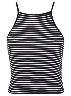 Stripe 90's Crop - View All- Miss Selfridge