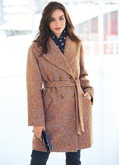 Large Collar Wrap Front Coat