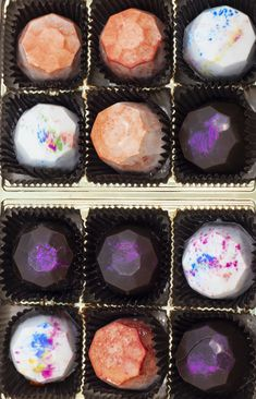 Truffle Boxes, Cake Truffles, Let Them Eat Cake, Muffin, Breakfast, Desserts, Food, Truffles, Morning Coffee