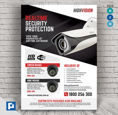 This CCTV Promotional Flyer Design has been develop to boost your marketing campaign. Promotional Flyers, Promotional Design, Flyer Design Templates, Psd Templates, Promo Flyer, Home Electrical Wiring, Cctv Surveillance, Camera Shop, Marketing Opportunities