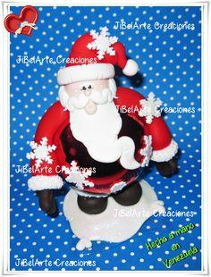 Bambalinas Decoradas!! Papá Noel!!!! 100% JiBelArte Creaciones #masaflexible #manualidades #artesanias #facebook #Venezuela #Aragua