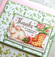 thanks close up Handmade Thank You Cards, Greeting Cards Handmade, Mini Scrapbook Albums, Scrapbook Cards, Scrapbooking, Card Making Inspiration, Making Ideas, Cricut Craft Room, Simon Says Stamp