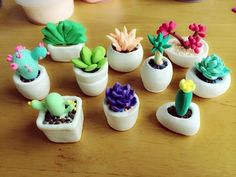 Super succulent art polymer clay Ideas Best Picture For Polymer Clay Projects sculpting For Your Tas Polymer Clay Kunst, Polymer Clay Kawaii, Polymer Clay Miniatures, Fimo Clay, Polymer Clay Projects, Polymer Clay Charms, Polymer Clay Creations, Clay Crafts, Crea Fimo