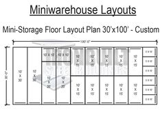 Self storage unit floor plans diy mini storage building for Metal building layouts