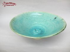 Ceramic Bowl  Grey and Seafoam by MudbugCreations on Etsy, $35.00