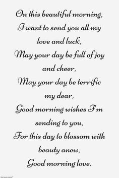 Looking for romantic good morning poems for him to compliments him by a beautiful poem and surprise your boyfriend or husband with this cute love lines. Good Morning Quotes For Him, Good Morning Texts, Good Morning Love, Beautiful Morning, Soulmate Love Quotes, I Love You Quotes, Love Yourself Quotes, Wife Quotes, Love Poem For Her