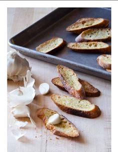 Garlic Bruschetta #bread #garlic ~~ also Winter Minestrone recipe