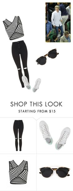 """Untitled #431"" by thaynalima-1 on Polyvore featuring Topshop, adidas and Christian Dior"