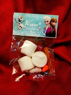 Frozen birthday party favors!!