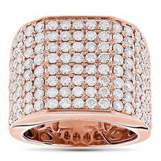 Luxurman 14k Gold 4 1/2ct TDW Diamond Men's Ring