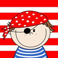 Kinderkaarten - Lief ondeugend piraatje