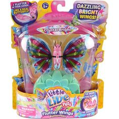 Moose Toys Little Live Pets Season 3 Butterfly Starter Pack, Crystal Bright