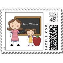 Custom Teacher Gift Postage Stamp
