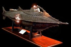 Leagues Under the Sea - Nautilus model with LED lights! Comic Book Heroes, Comic Books, Nautilus Submarine, Leagues Under The Sea, Sci Fi Ships, Adventure Movies, Fantasy Pictures, Sci Fi Art, Great Movies