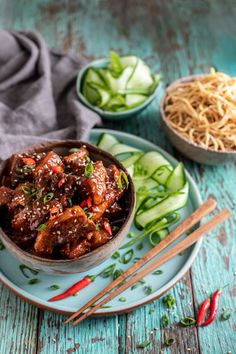 This Sticky Asian Pork with Egg Noodles is the perfect combination of sweet and savoury. A delicious meal for the whole family! via @crushonlinemag