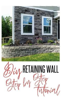 DIY How to: Retaining Wall Flower Bed Edging idea In front of house  | 1000 -  D...#bed #diy #edging #flower #front #house #idea #retaining #wall Stone Flower Beds, Raised Flower Beds, Raised Bed, Front House Landscaping, Landscaping With Rocks, Landscaping Ideas, Sloped Front Yard, Front Yards, Landscape Edging Stone