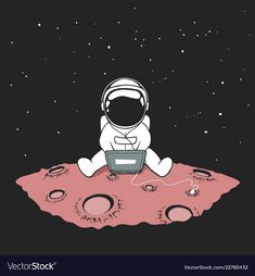 Music Drawings, Cool Art Drawings, Cartoon Drawings, Astronaut Cartoon, Monsters Vs Aliens, Music Cover Photos, Space Doodles, Astronaut Wallpaper, Space Music