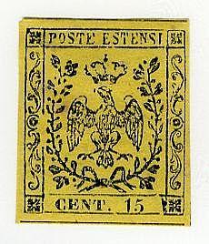 Senza punto 15 c. (3). Punto giallo. A. Bolaffi. AD.