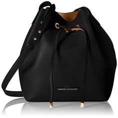 d291e8f00 AX Armani Exchange A X Armani Exchange Petite Faux Leather Bucket Bag Armani  Jeans Handbags, Navy