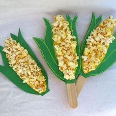 Corn Collage Fall Party Crafts for Kids