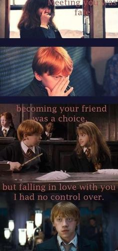 Ron and Hermione's Love <3 Melts my heart