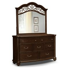 Shop Value City Furniture for beautiful Dressers to complete your bedroom. Mirror Set, Dresser With Mirror, Bedroom Dressers, Bedroom Furniture, Accent Furniture, Furniture Design, Value City Furniture, Derbyshire, My Dream Home
