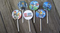 24 City Undercover Cupcake Toppers  2 by BeechBunch on Etsy, $6.00