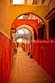 The colours of buildings in other countries blows me away!  This one is in Morocco