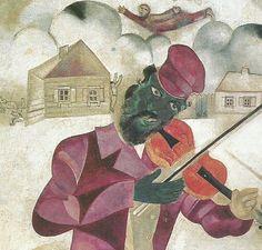 Marc Chagall. Il violinista verde (dettaglio)