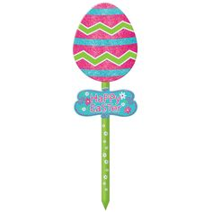 Easter Egg Glitter Lawn Sign   Wally's Party Factory #Easter #decor