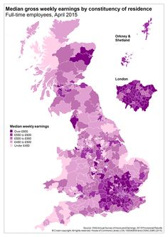 UK weekly earnings by parliamentary constituency