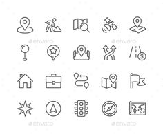Line Navigation Icons. Download here: http://graphicriver.net/item/line-navigation-icons/16606337?ref=ksioks