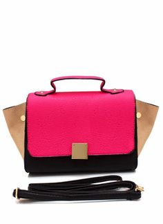 Amazingly Affordable!  Colorblock Purse (article shown in green), Go Jane, $40
