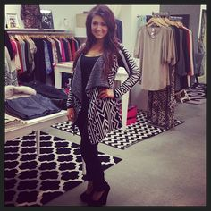 All black with tribal cardigan!