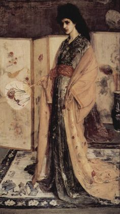 James McNeil Whistler - Princesa del País de la Porcelana (1863-1864). Impresionismo. Óleo sobre lienzo de 200 x 166 cm. The Freer Gallery of Art (Washington), EE.UU