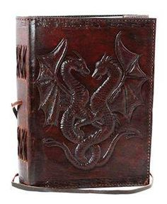 I found 'Twin Dragon Leather Journal' on Wish, check it out!