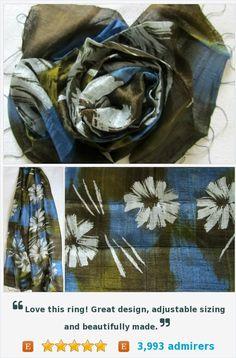 Silk scarf-Handwoven-Hand dyed-Batik scarf-Handmade-Natural silk-Pure raw silk-Organic-Thai silk-Gift for her-Silk accessories-Wedding gift https://www.etsy.com/listing/188298312/