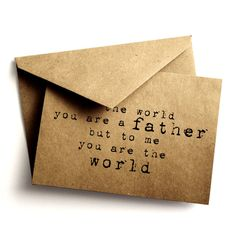 Typewriter Father's day card  Rustic blank card  by AnnsPaperie, $3.00