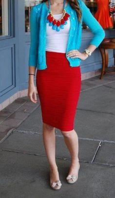 Scrunchy Pencil skirt-6 colors! {Jane Deals}