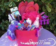Mani-Pedi Party Easter Basket - If your little girl loves to pamper herself, our Mani-Pedi Party basket is perfect.