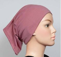 Free+Shipping+Mauve+Cotton+Maxi+Tube+Band+Yoga+headband+Hijab+Hejab+Inner+cap+Muslim