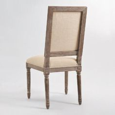 Natural Linen Square-Back Paige Dining Chairs, Set of 2 | World Market