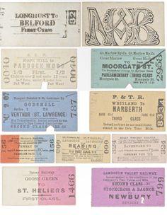 Old Railway Tickets No. 1