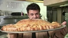 "Stromboli.. I mean ""Jumboli"". Trimbo's Pizza, Butte, MT. All 5 lbs of it."