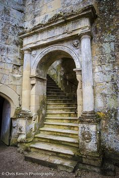 Stairs in the Ruins of the Old Wardour Castle, Tisbury, Wiltshire