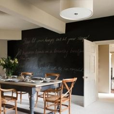 Add a touch of fun with a chalkboard wall