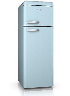 Swan SR11010BLN Retro Top Mount Fridge Freezer The range of beautifully designed Swan Vintage Fridge-Freezers combine modern A  energy efficiency with a classic retro look that will make this fridge a real design statement in your kitchen. The des http://www.MightGet.com/february-2017-2/swan-sr11010bln-retro-top-mount-fridge-freezer.asp
