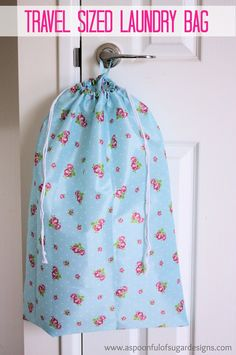 From A Spoonful of Sugar - Travel sized laundry bag - can be made with a pretty shower curtain