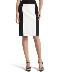 Colorblock pointe pencil skirt - White House | Black Market