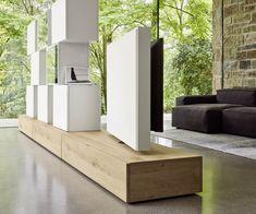 Livitalia Raumteiler Wohnwand C46 Zwischenwand, Tv Schrank, Tv Möbel, Wohnzimmer  Tv, Innenausstattung